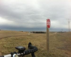 Riding toward the Storm